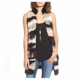 Free People Picture Perfect fuzzy open front vest
